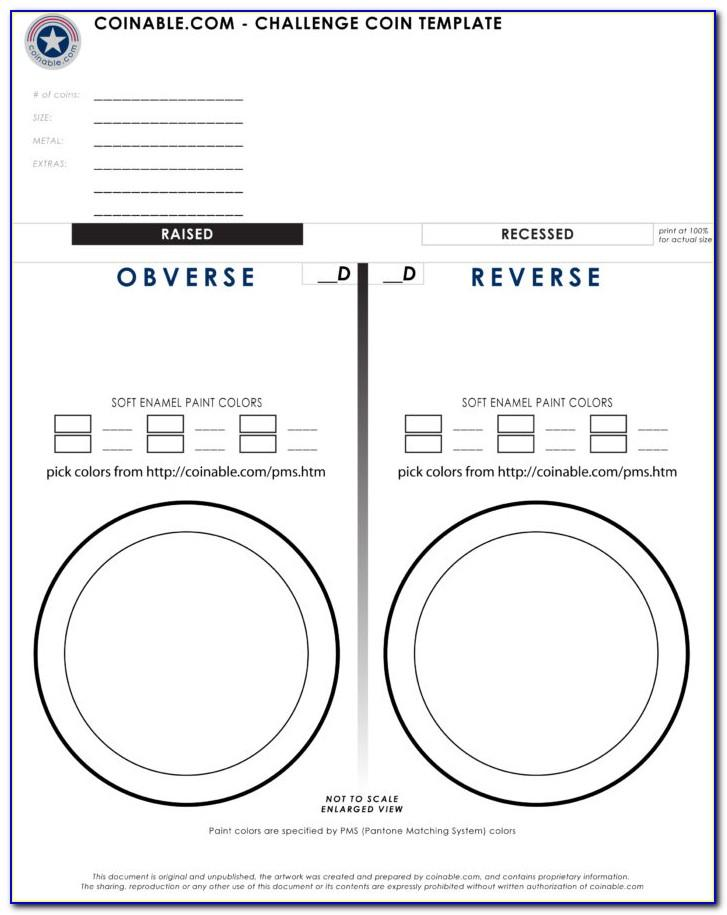 Challenge Coin Template Psd