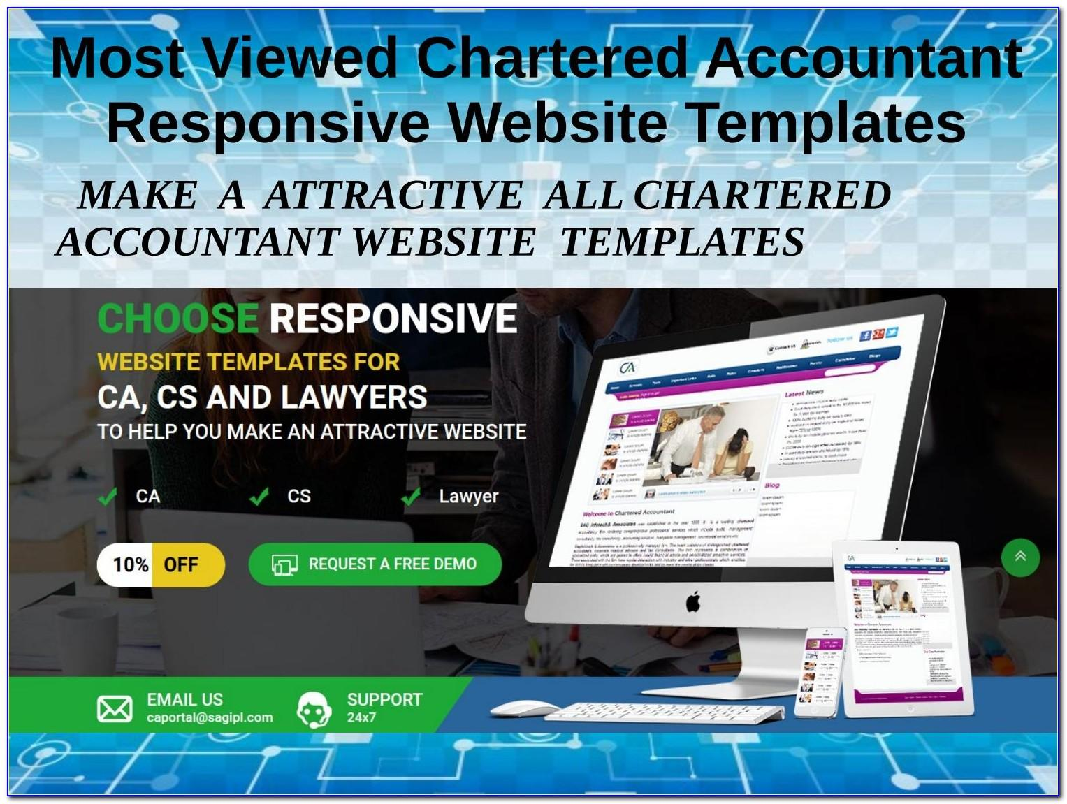 Chartered Accountant Responsive Website Templates Free Download
