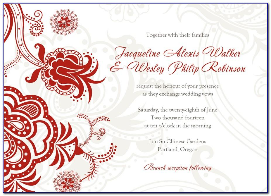 Chinese Wedding Invitation Wording Template Free Download