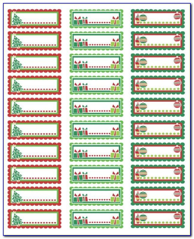 Christmas Address Labels Free Templates