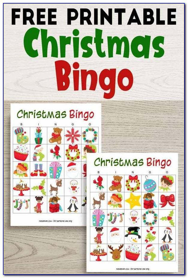 Christmas Bingo Print Free