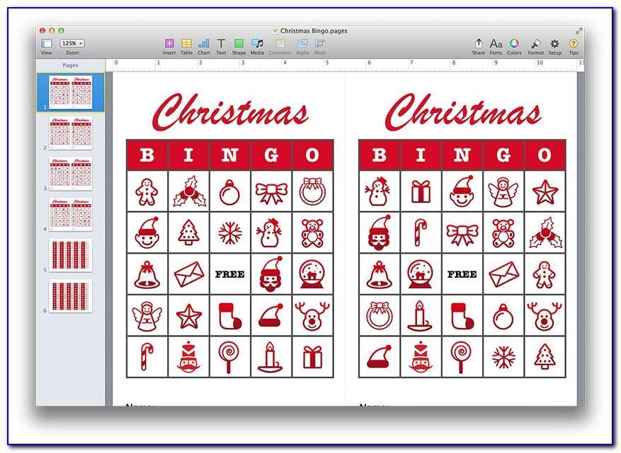 Christmas Bingo Printables Free