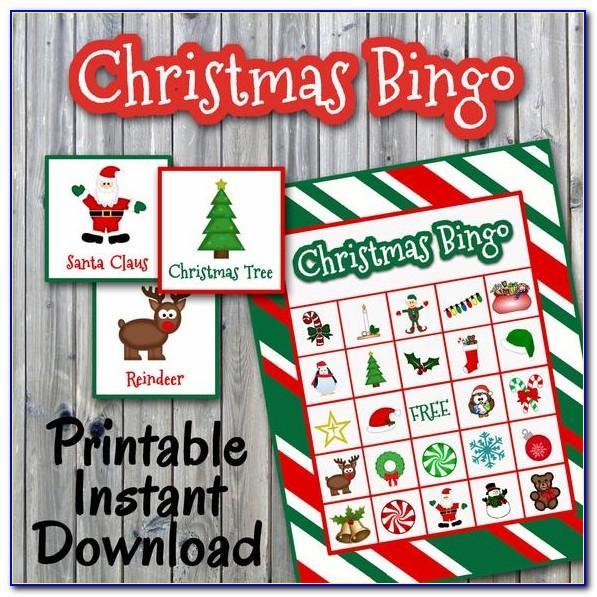 Christmas Bingo Printchristmas Bingo Print