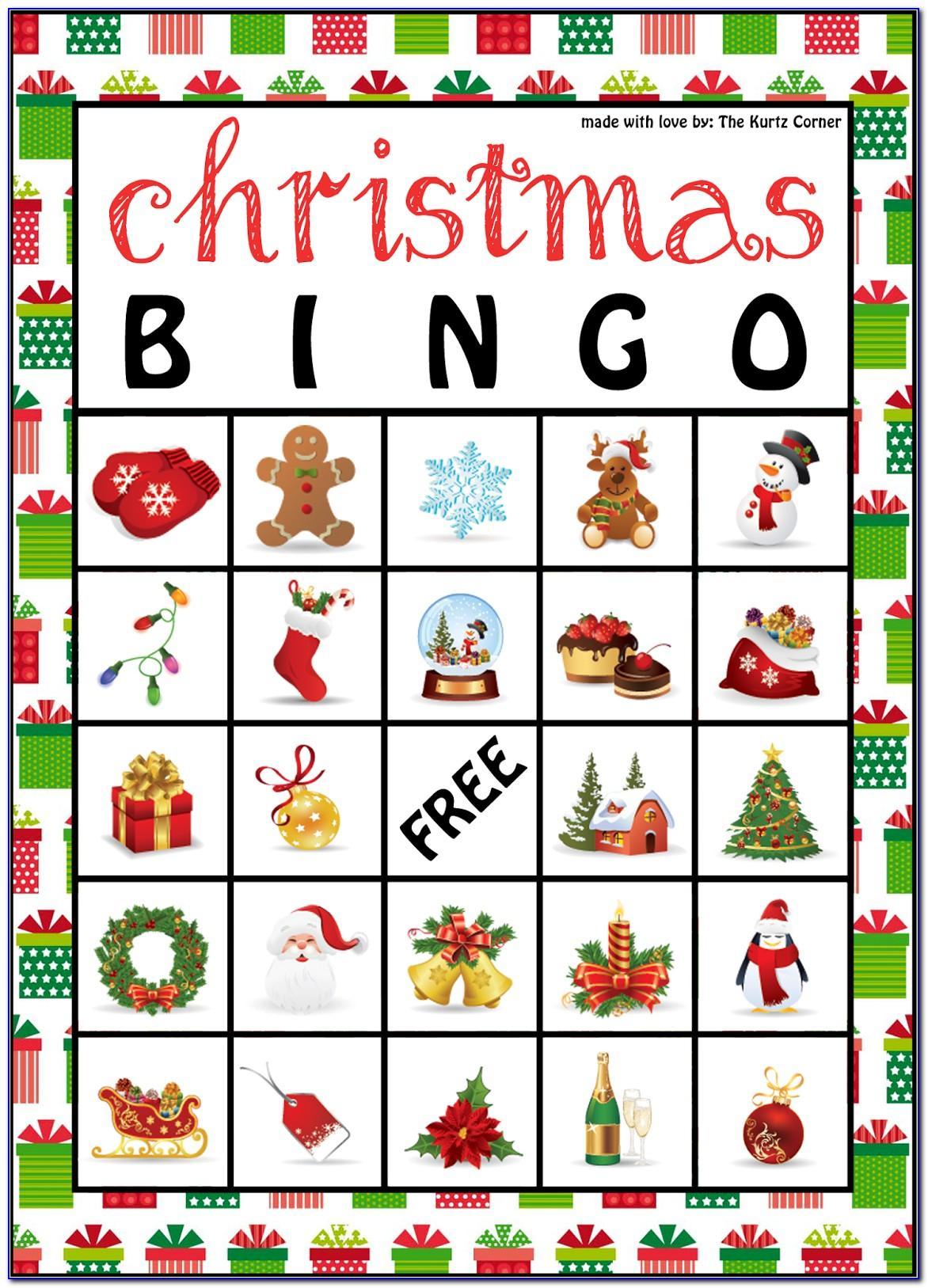 Christmas Bingo Template Pdf
