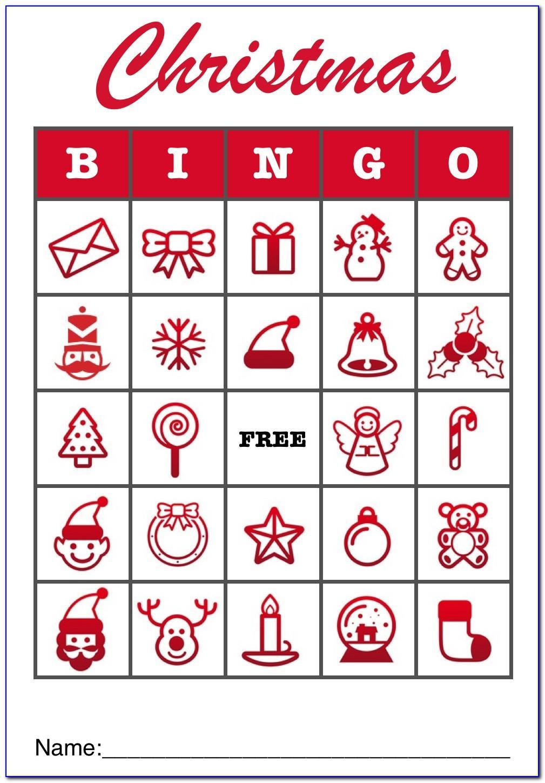 Christmas Bingo Templates Free