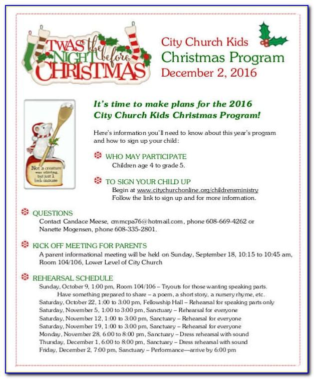 Christmas Church Program Templates
