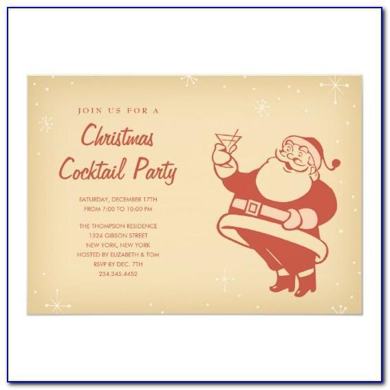 Christmas Dinner Invitation Samples