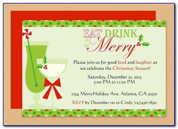 Christmas Dinner Invitation Templates