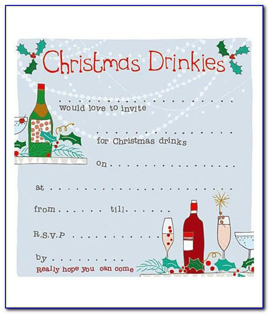 Christmas Drinks Party Invitation Template