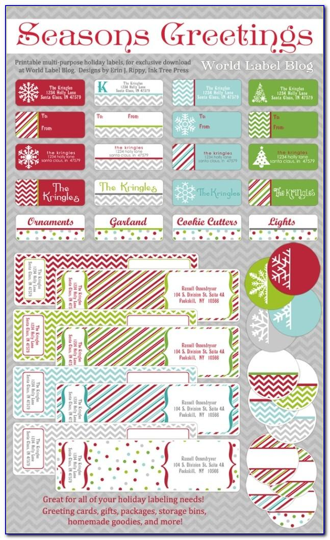 Christmas Return Address Labels Free Template
