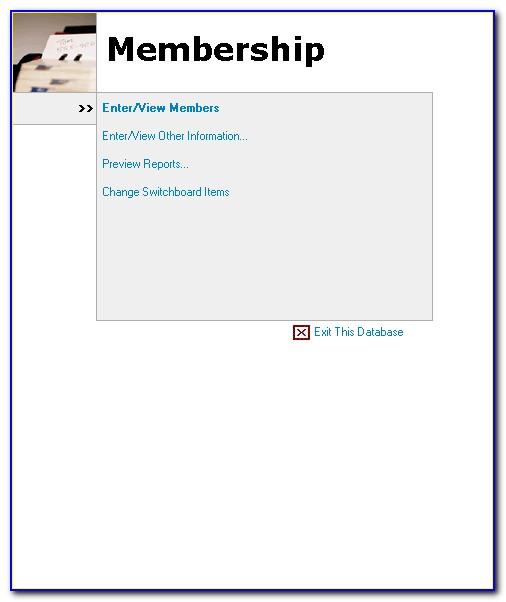 Church Membership Access Database Template