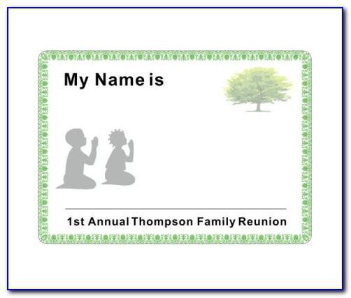 Class Reunion Name Badges Template