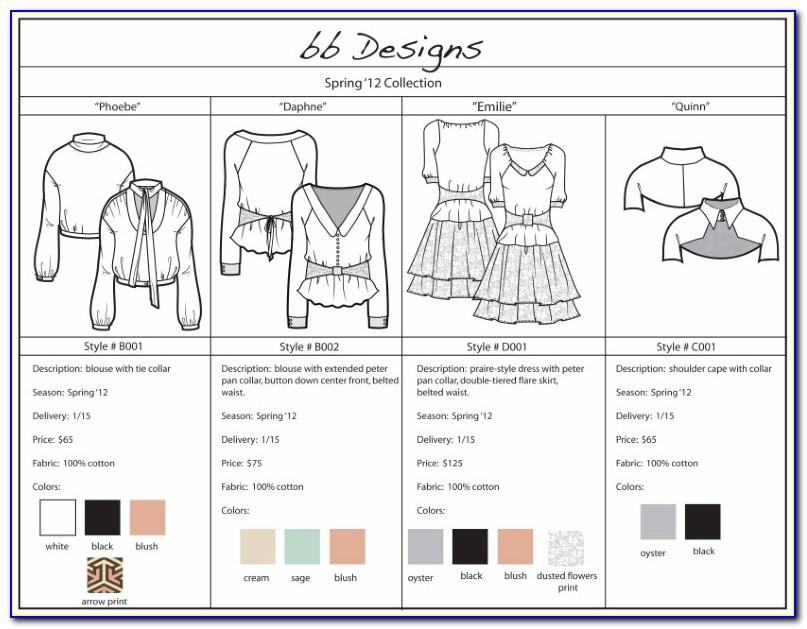 Clothing Line Sheet Template Download