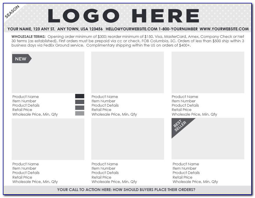 Clothing Line Sheet Template