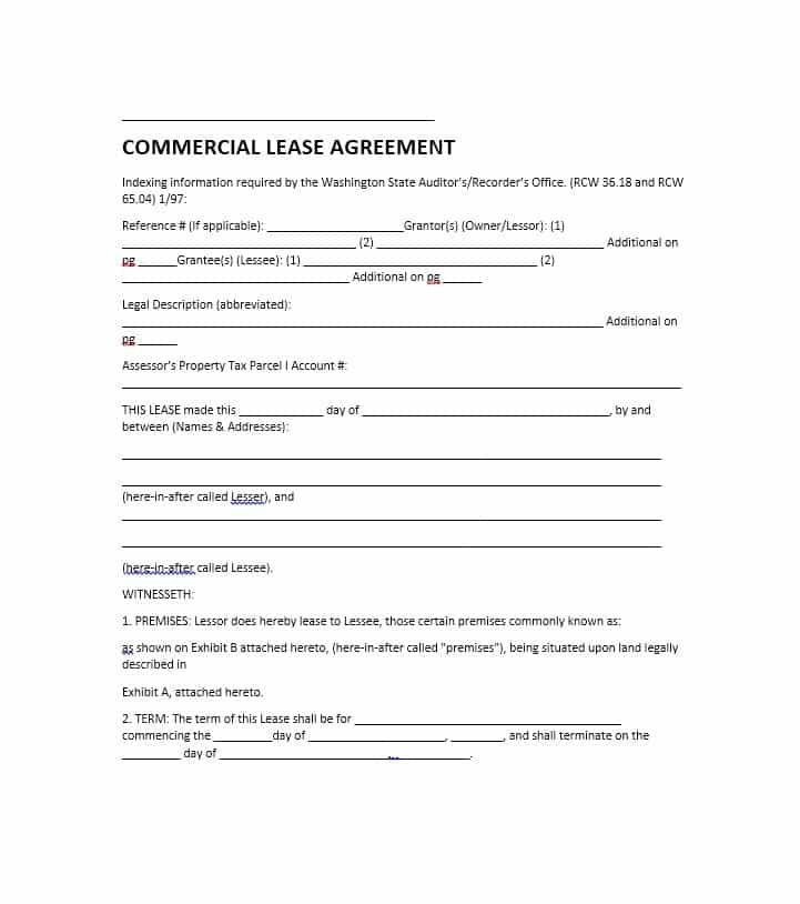 Commercial Property Lease Contract Template