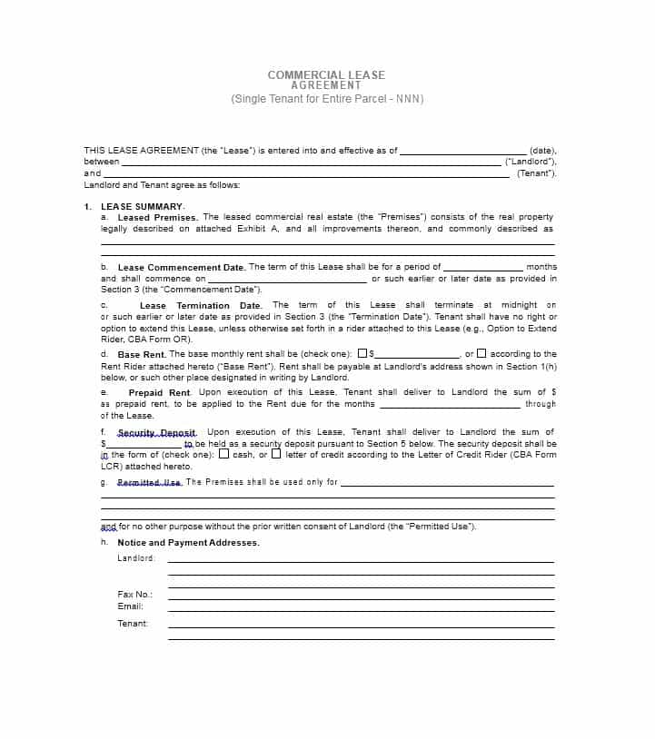 Commercial Property Lease Template Uk