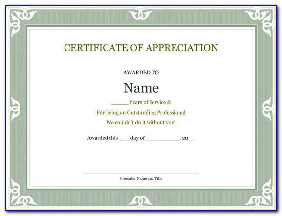 Community Service Award Certificate Templates