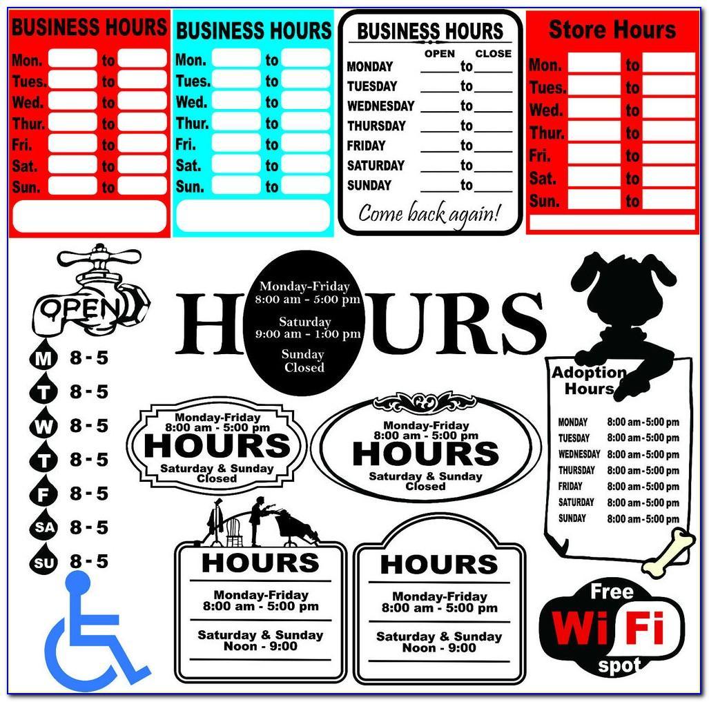 Company Signboard Design Template