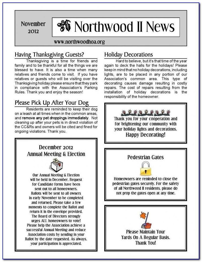 Condo Association Newsletter Template