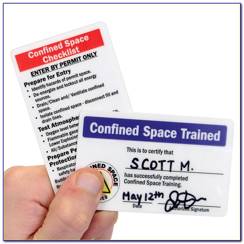 Confined Space Certificate Template