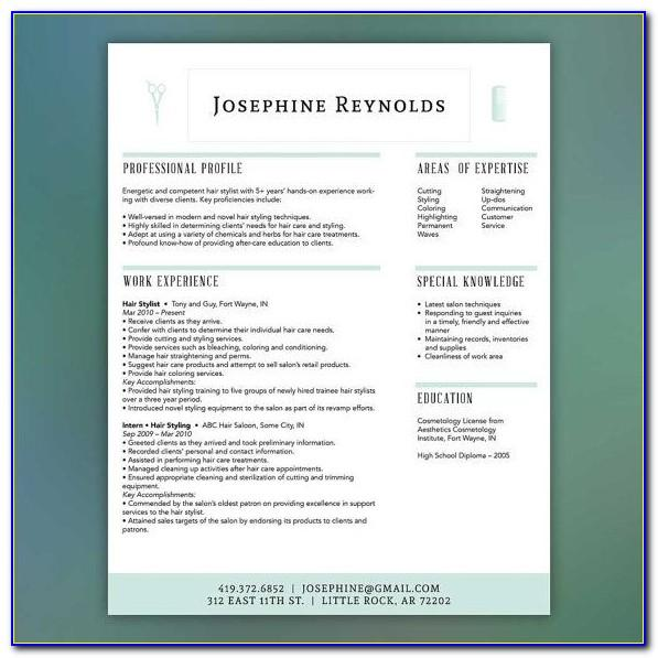 Cosmetology Portfolio Template