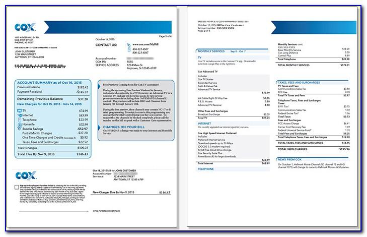 Cox Pay Invoice