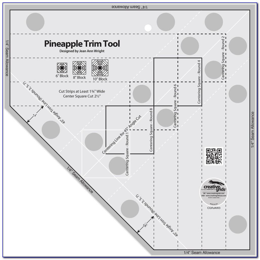 Creative Grids Pineapple Trim Tool Quilting Template Ruler