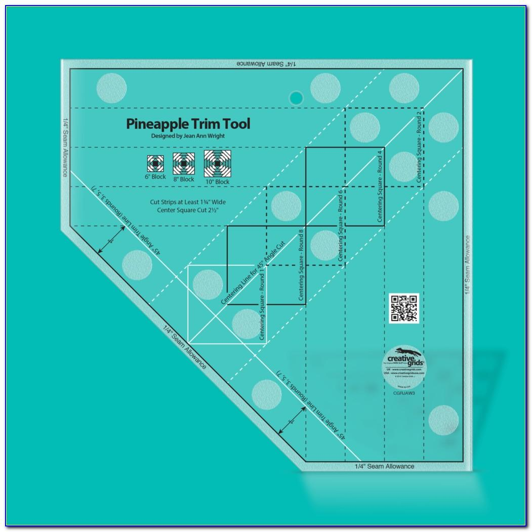 Creative Grids Standard Pineapple Trim Tool Quilting Ruler Template