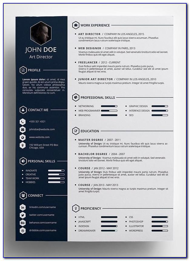 Creative Resume Templates For Microsoft Word Free Download
