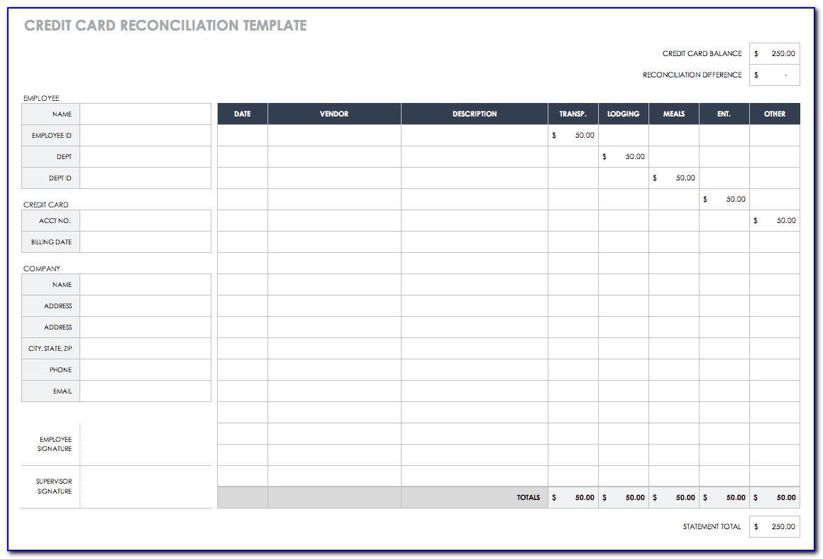 Creditors Account Reconciliation Template Excel