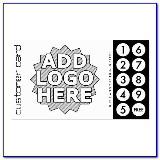 Custom Punch Cards Template