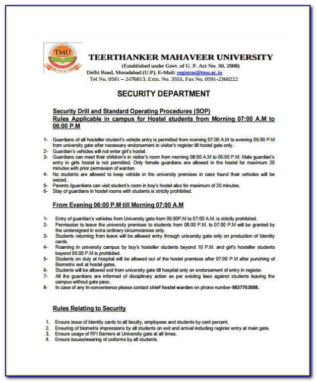 Cyber Security Sop Template