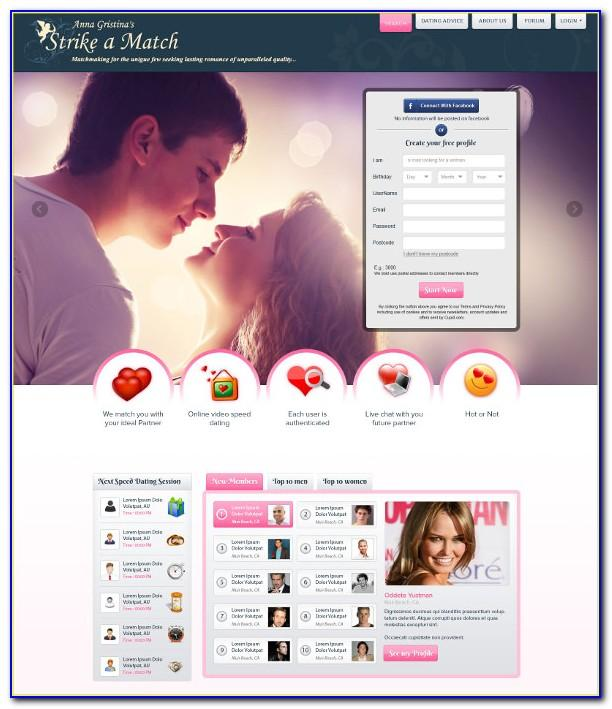 Dating Website Design Templates
