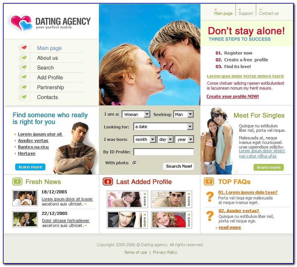 Dating Website Template W3layouts