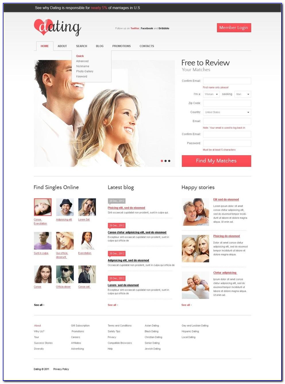 Dating Website Templates Free