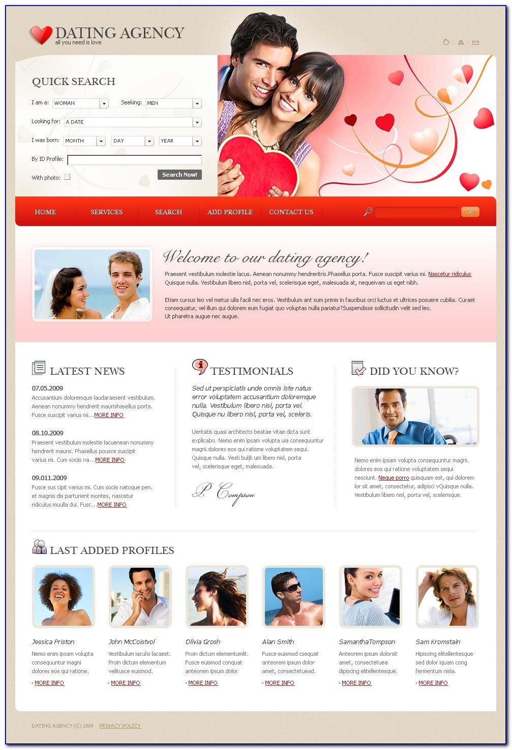 Dating Website Templates Themeforest