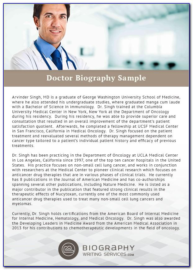 Dentist Biography Example