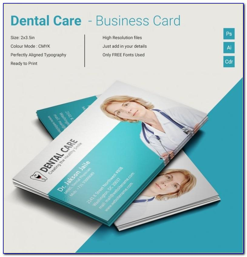 Dentist Business Card Template Free