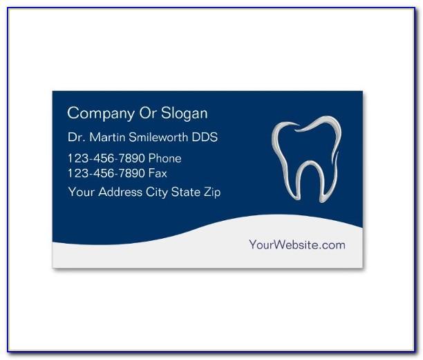 Dentist Business Card Template Psd