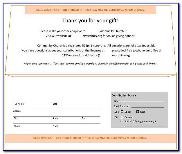 Donation Envelopes Template
