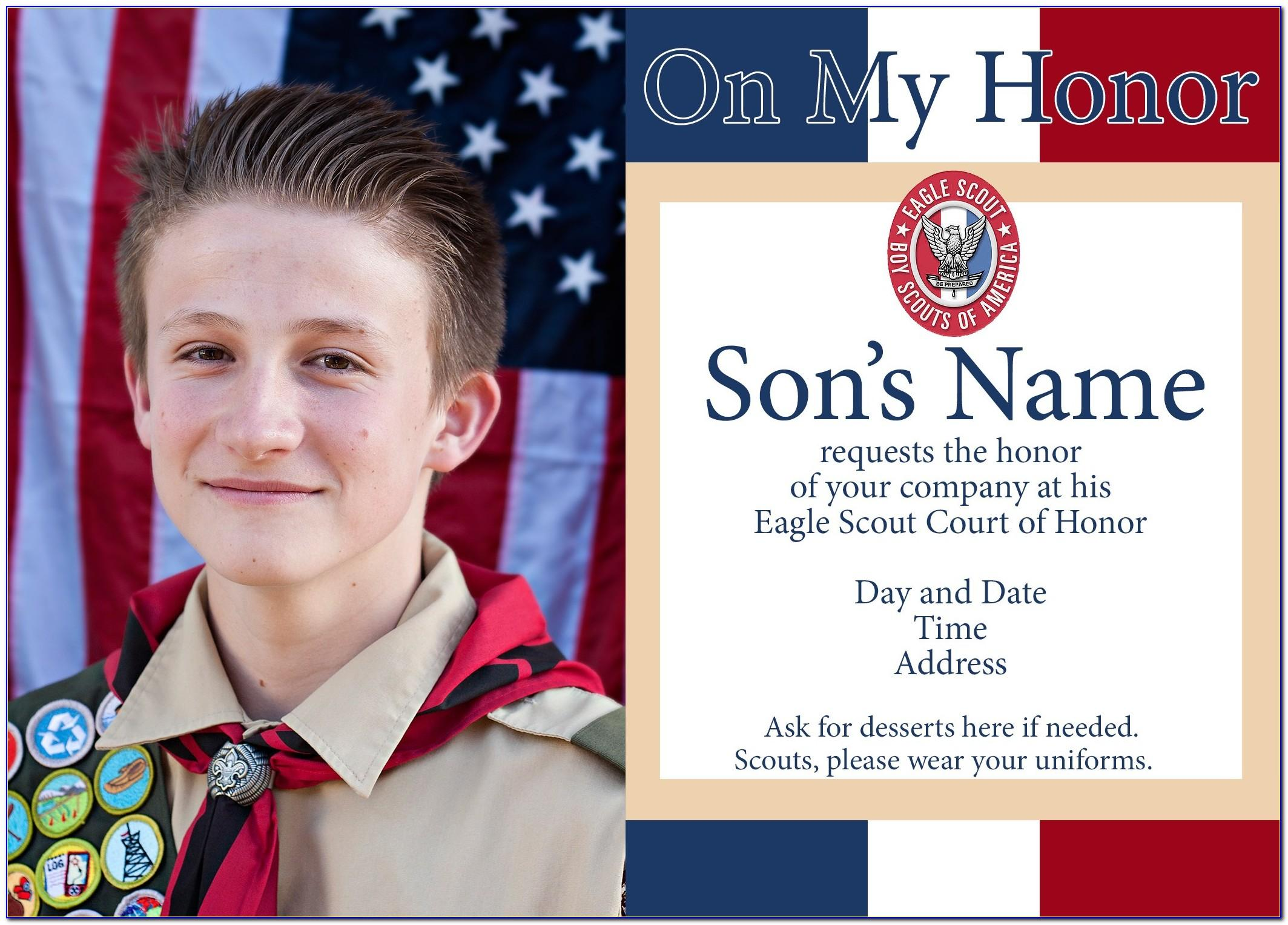 Eagle Scout Invitation Templates
