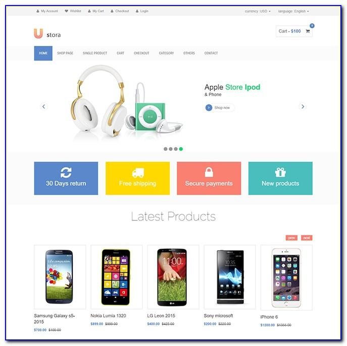 Ecommerce Website Template Free Download Html Css