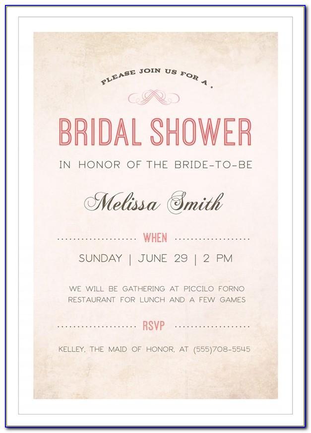 Editable Bridal Shower Invitations Free