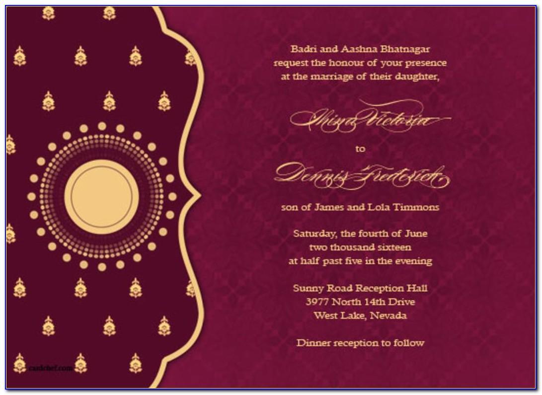 Editable Indian Marriage Invitation Templates