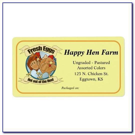 Egg Carton Label Template