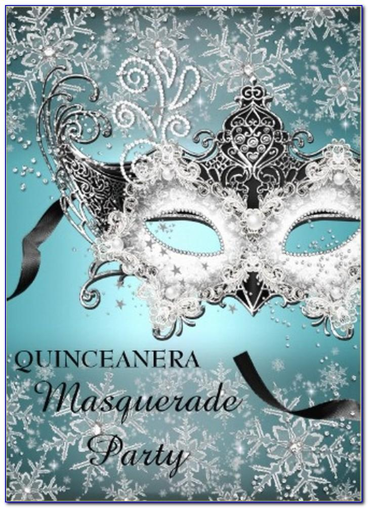 Elegant Masquerade Party Invitations Templates