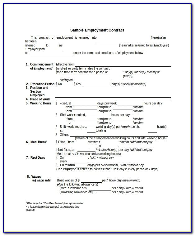 Employee Agreement Template Australia