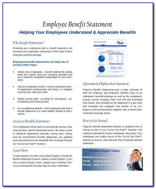 Employee Benefit Statement Examples