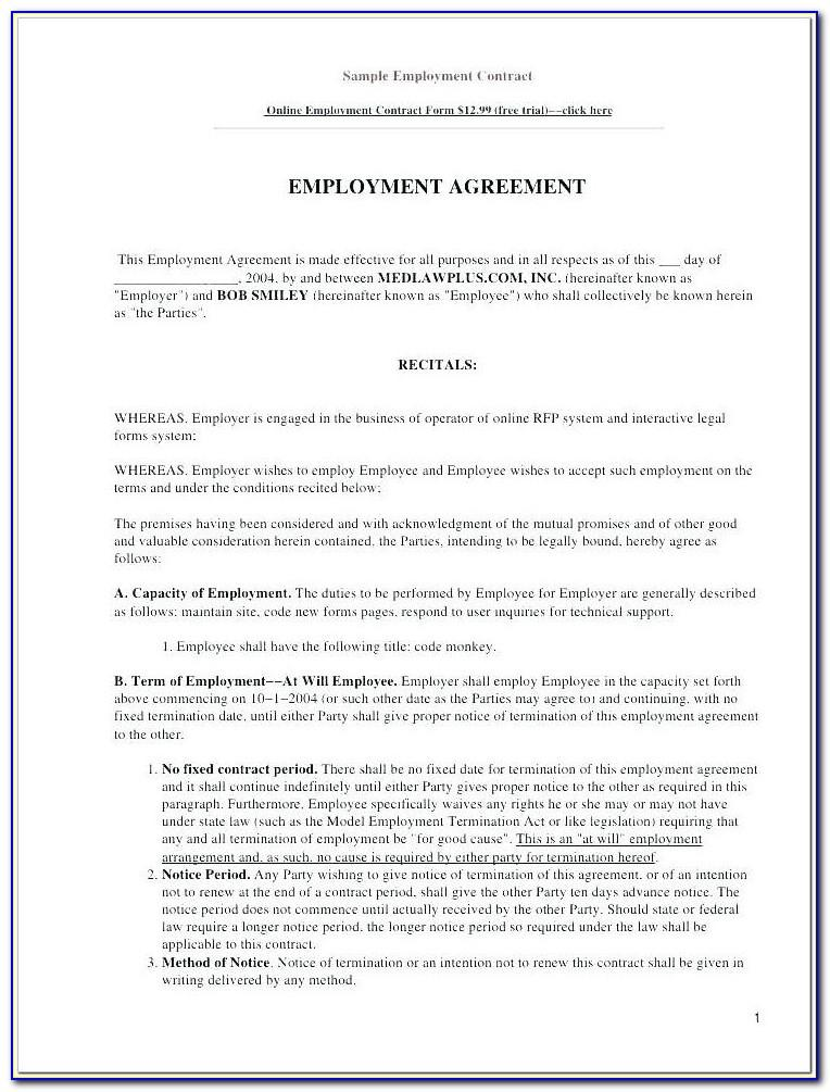Employment Contracts Template Uk