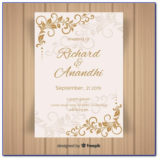 Engagement Invitation Card Template Blank